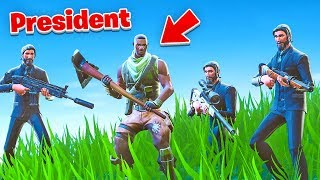 Protecting the Default President in Fortnite...