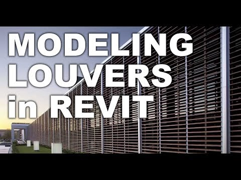 Louvers in Revit Sun protection shade facade tutorial