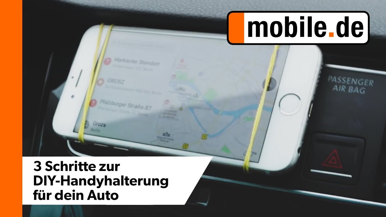 diy smartphone halterung in 3 schritten f rs auto mobile. Black Bedroom Furniture Sets. Home Design Ideas