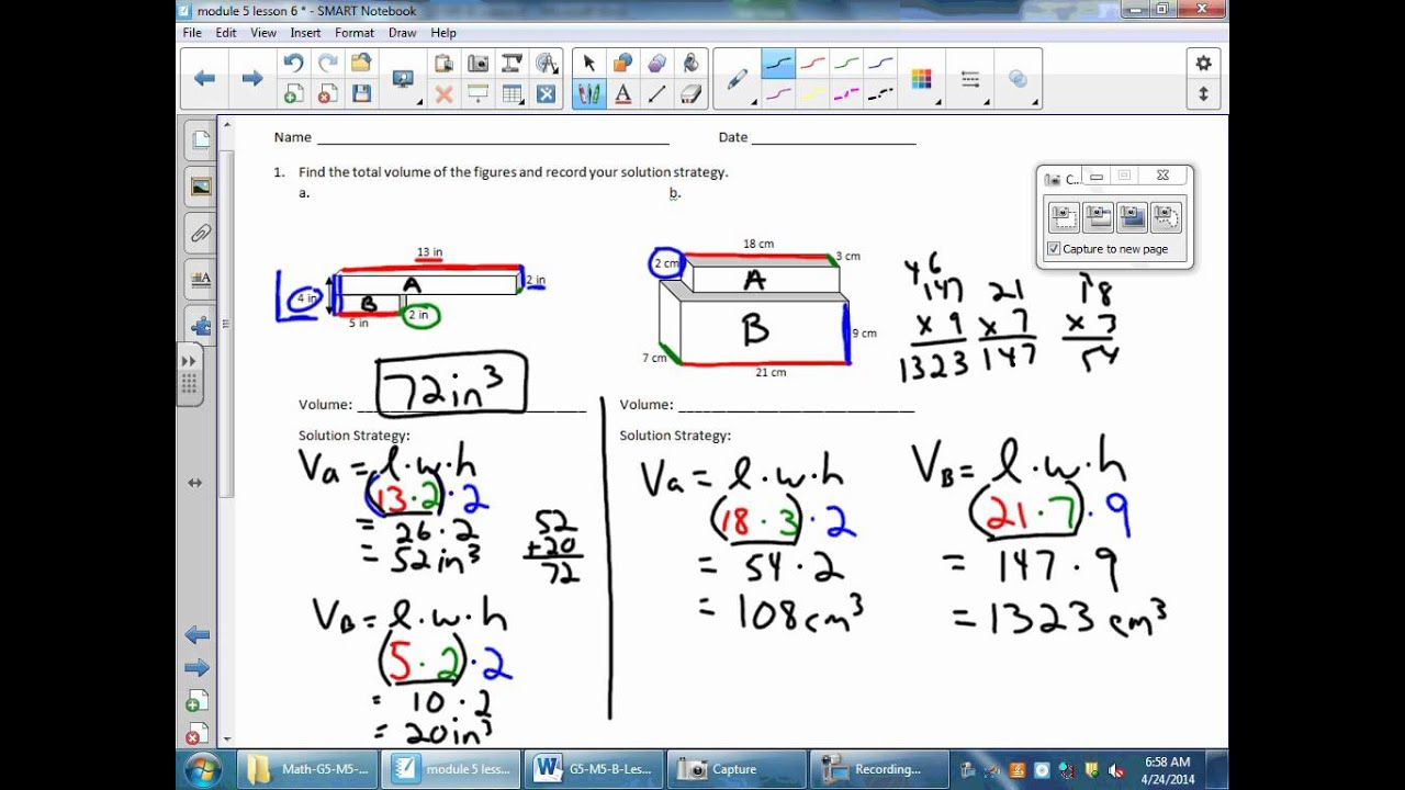 Volume of Non-overlapping Rectangular Prisms (solutions