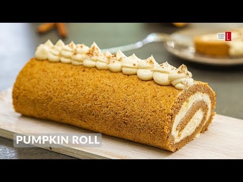 pumpkin-roll-with-candied-ginger-|-food-channel-l-recipes
