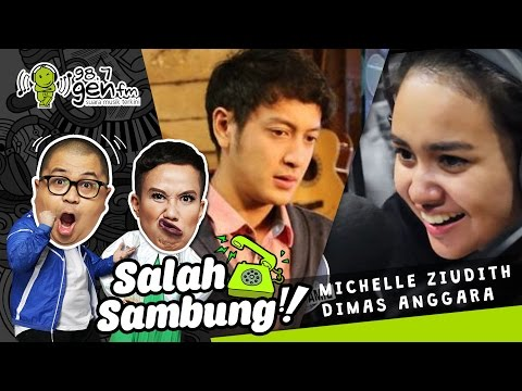 Dimas Anggara dikerjain Michelle Ziudith di SALAH SAMBUNG