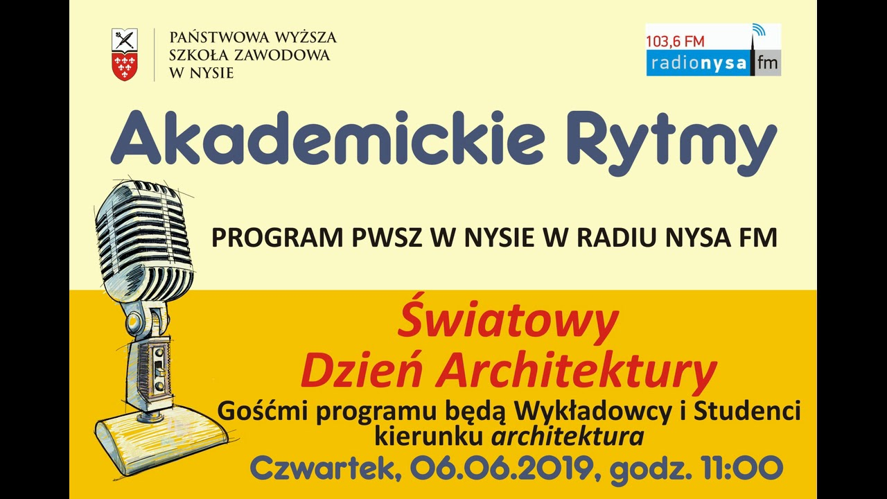 """""""Światowy Dzień Architektury"""" - audycja radiowa z dnia 06.06.2019r."""