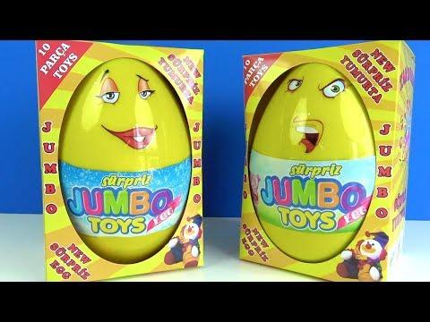 Sürpriz Jumbo Toys Egg 2 Dev Sürpriz Yumurta Jumbo Sürpriz Yumurta Açma 10 Parça Oyuncaklı Kamikaze
