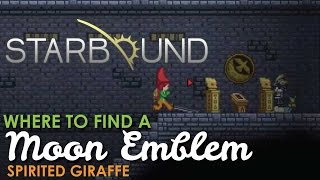 Where to find a Moon Emblem in Starbound