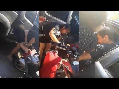 Mulher flagra marido deixando amante no trabalho no centro de Rio Branco e faz o maior barraco