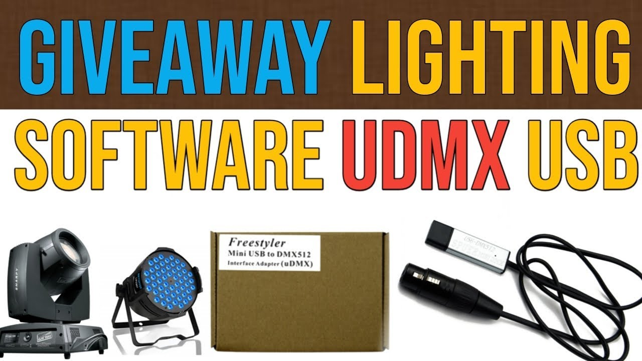 Dmx lighting software Giveaway and unboxing review
