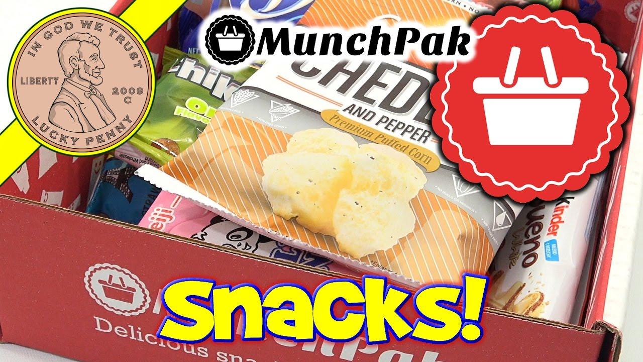 sc 1 st  YouTube & MunchPak Monthly Snack Food u0026 Candy Subscription Box - YouTube Aboutintivar.Com