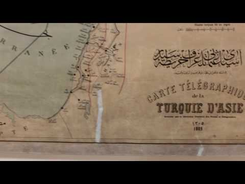 Telegraph lines Map of the Ottoman Turkish Empire around 1890