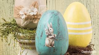 How to Decorate Paper Easter Eggs | A Country Sampler DIY Video
