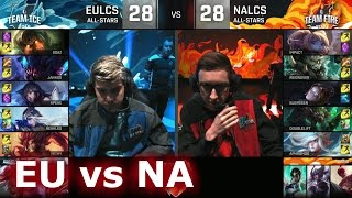 EU LCS vs NA LCS | LoL All-Star Event 2016 Day 1 | ICE vs FIRE - EU vs NA
