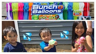 Bunch O Balloons water balloon fight Family Fun Outdoor Activities for kids