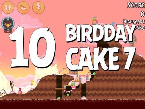 Angry Birds Birdday Party Cake 7 Level 10 Walkthrough 3 Star