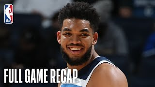 KINGS vs TIMBERWOLVES | Karl-Anthony Towns Records Monster Double-Double | February 25, 2019