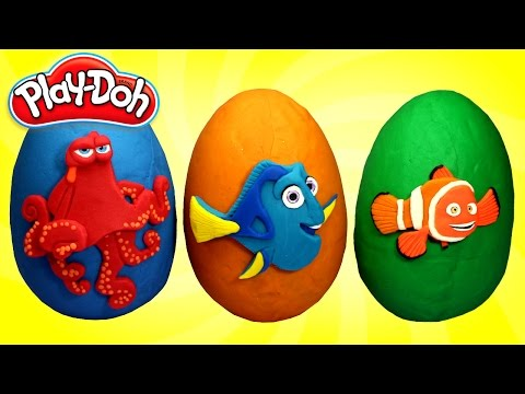 Thumbnail: FINDING DORY Play Doh Surprise Eggs Opening with Dory, Marlin and Hank Toys