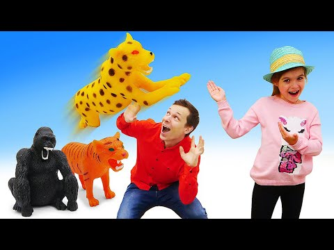 Новые развивающие игры. Собери набор фигурок Lions & КО! Классные видео про животных