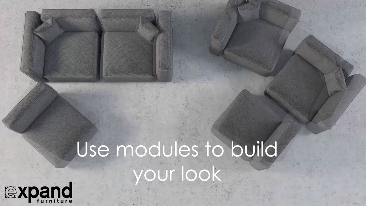 Modern Soft Cube Modular Sofa Set Expand Furniture