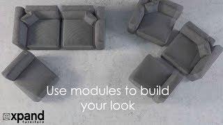 Modern Soft Cube Modular Sofa Set