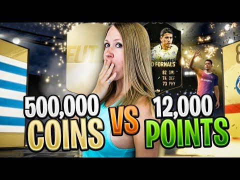 500,000 COINS vs 12,000 FIFA POINTS | Which is more worth it!? FIFA 19