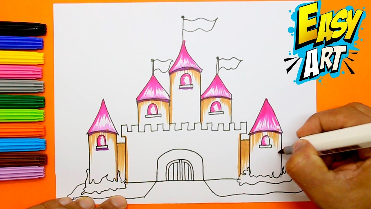 How To Draw Princess Castle For Girls