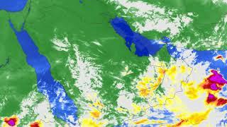حركة السحب المصاحبة لتأثير الموجة الشرقية المدارية 16-19 يوليو 2020