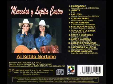 Carta Y Despedida (Compositor) Enrique Lopez (Interpretes) Mercedes y Lupita Castro