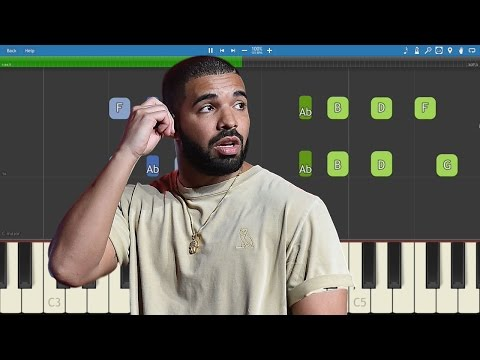 Drake - Fake Love - Piano Tutorial -...