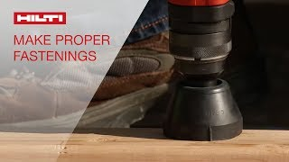 HOW TO make a proper fastening with Hilti powder-actuated tool…