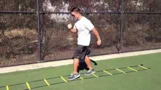 Ladder Drills: Linear Scissor Kicks | Sweat City Athletic Performance Training