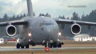 Canadian Forces C-17 Globemaster departure - YXX