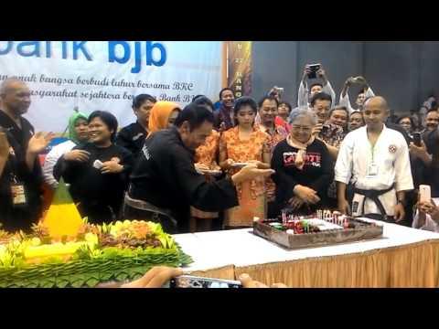 #Karate BKC: Kang Iwa tiup lilin acara puncak ULTAH BKC