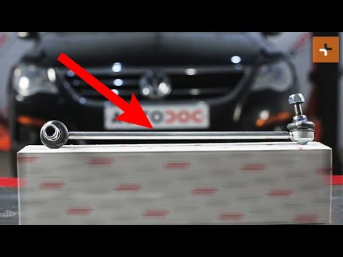 How to replace Front Anti Roll Bar Link on VW PASSAT CC 1 TUTORIAL | AUTODOC
