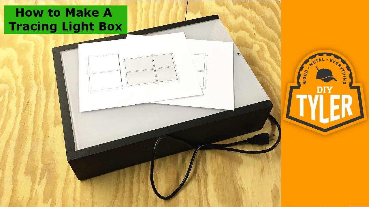 How To Make A DIY LED Tracing Light Box 020 Design Ideas