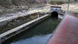 山野発電所  沈砂池