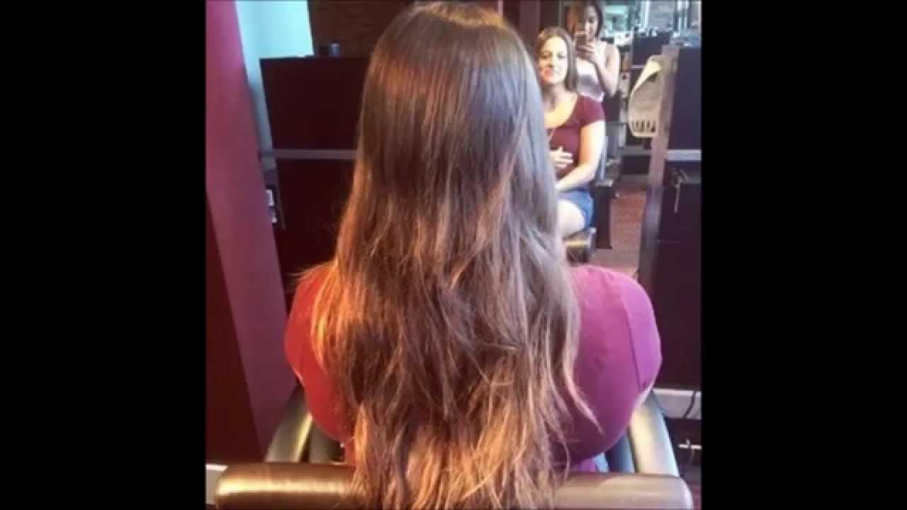 Hair Makeover Long To Shoulder Length LOB Long Bob
