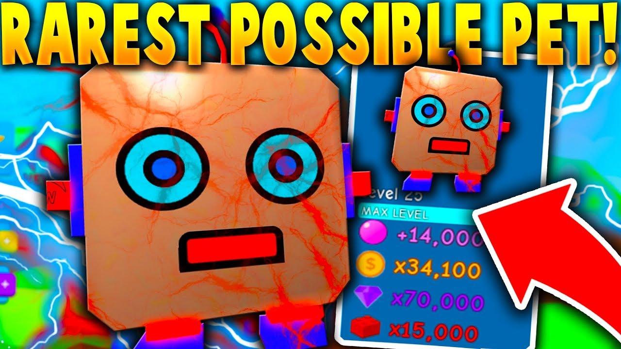 THE *RAREST* POSSIBLE PET!! (SHINY Giant Robot!) - Roblox Bubble Gum Simulator