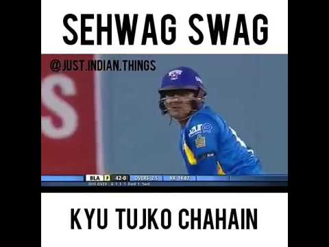 Sehwag hit cracking six-sehwag fan must watch this (swag)