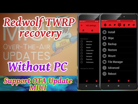 How to install Redwolf Twrp recovery on xiaomi redmi note 4 and Note 3 |  OTA Update enable