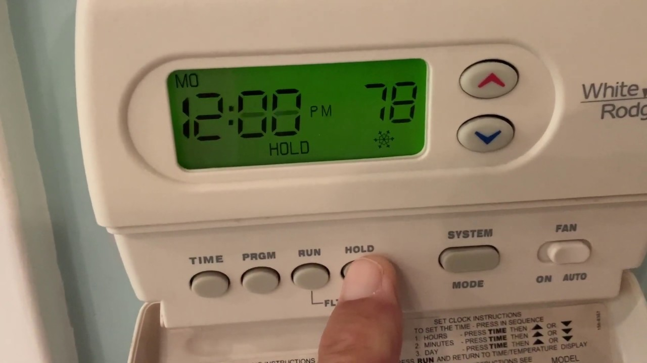 How To Change The Batteries In A White Rodgers Thermostat Youtube