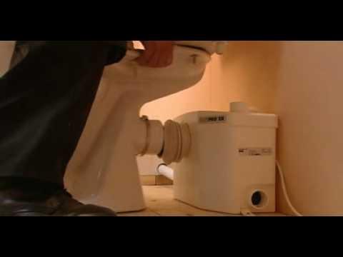 saniflo toilet hook up