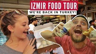 Izmir's Bomba Turkey's Best Desert?  | Izmir Food Tour | Full Time Travel Vlog 13