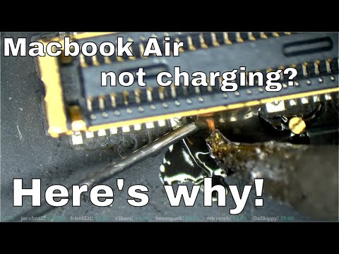 Macbook Air Magsafe charging circuit walkthrough and repair