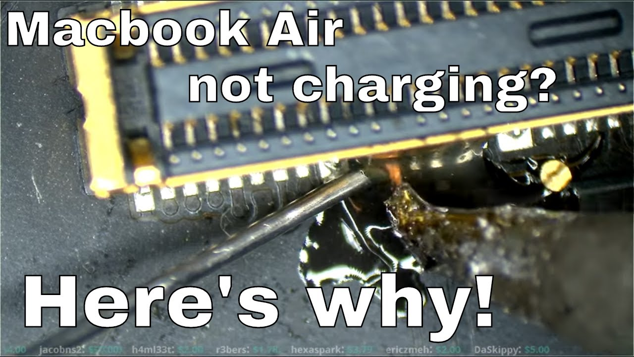 Macbook Air Magsafe charging circuit walkthrough and