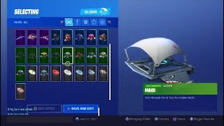 Glider from 1 SEASON! ALL MY SKINS + OTHER | Fortnite Battle Royale | 495 + Wins | Ps4