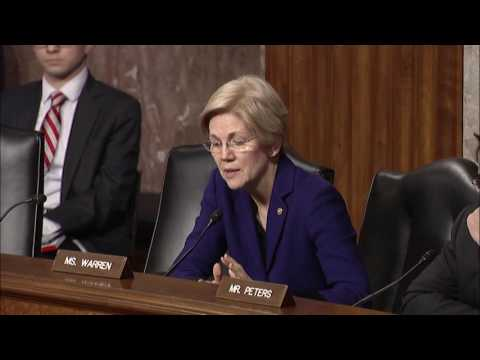 "Senator Elizabeth Warren at Hearing on the ""Marines United"" Website"