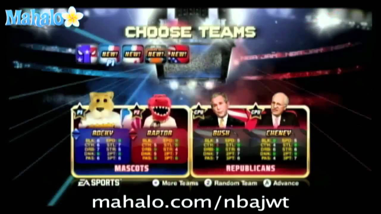 Nba Jam For Wii Mascots Code Youtube