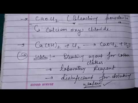 What Is Bleaching Powder And Its Formula Use Of Bleaching Powder