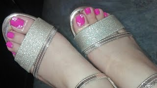 Barbie Pink Floral Pedicure Nail Art Tutorial- Toe Nail Art for Spring and Summers | Rose Pearl