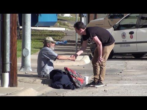 Homeless Man MONEY PRANK