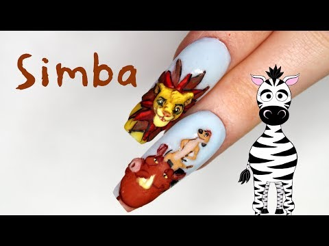 3D Simba Acrylic Nail Art Tutorial | Lion King thumbnail